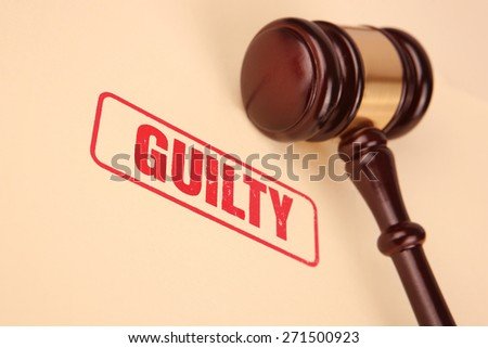 Guilty Verdict - stock photo