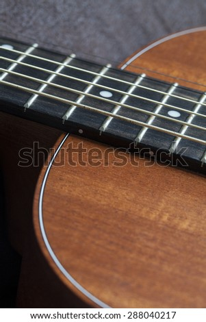 guitar acoustic bridge - stock photo