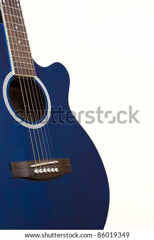 guitar case and neck - stock photo
