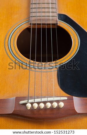 Guitar made �¢??�¢??out of wood is a guitar classic. - stock photo