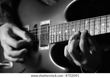 guitar melody - stock photo