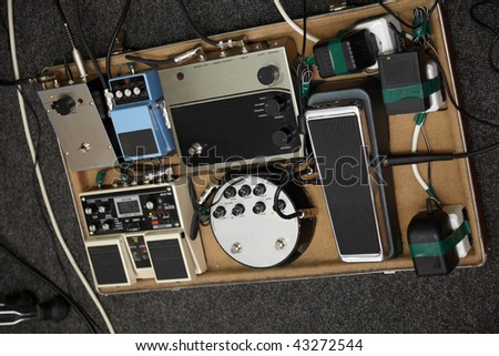 guitar multi effects device - stock photo