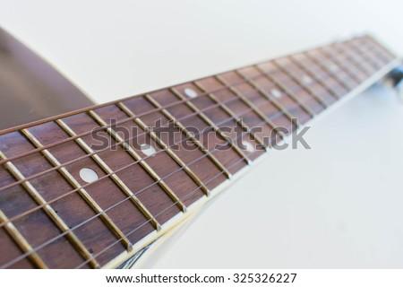 Guitar neck - stock photo