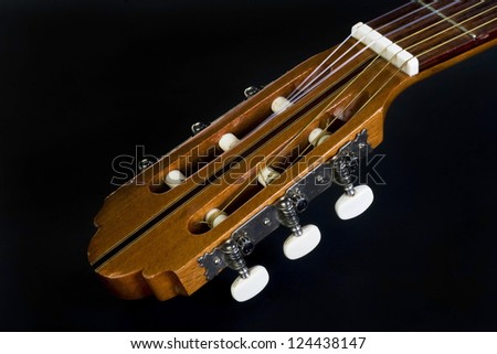 Guitar Neck With Room For Your Type. - stock photo