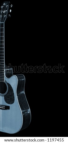 Guitar on a black background. - stock photo