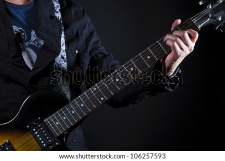 guitar power chords C - stock photo