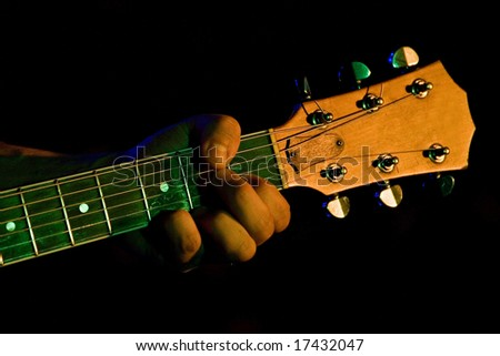 guitar's head - stock photo