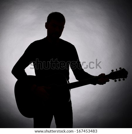 Guitarist silhouette Stock Photos, Images, & Pictures ...