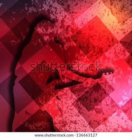 Guitarist texture background in color - stock photo