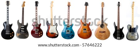 Guitars - stock photo