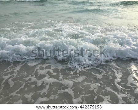 Gulf Coast Shore Line Surf - stock photo