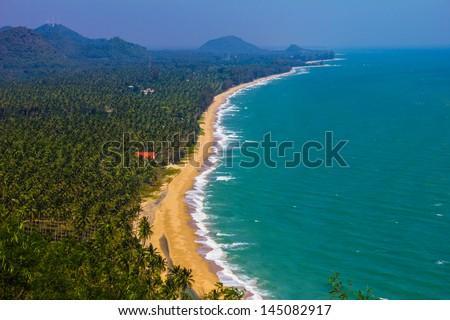 Gulf of Thailand & East Coast Beaches - stock photo