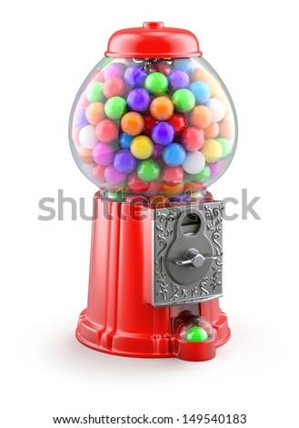 Gumball machine - stock photo