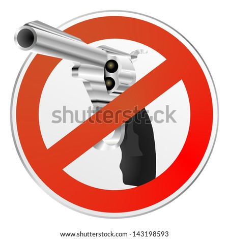 gun control sign - stock photo
