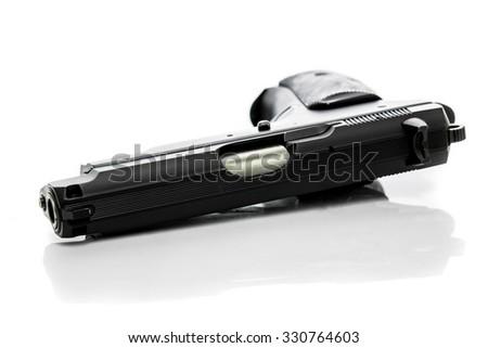Gun on white background - stock photo