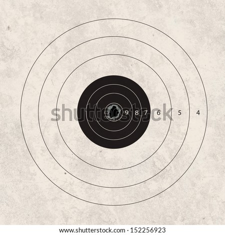gun shoot to the shooting target concept - stock photo