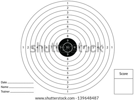 Gun shooting target for printing - stock photo