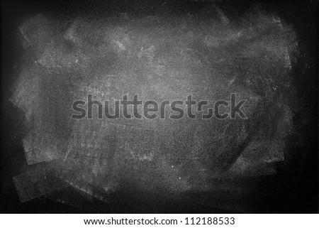 Gungy black board, copy space - stock photo