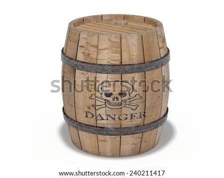 Gunpowder barrel - stock photo