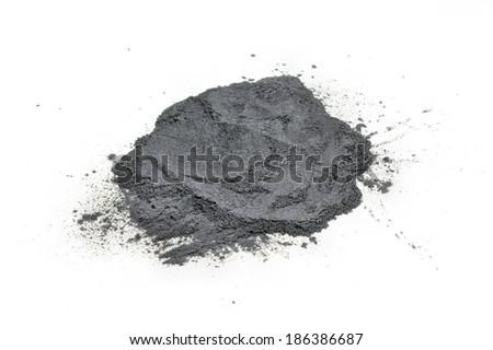 Gunpowder pile  on white background isolated - stock photo