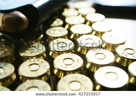 Guns & Ammo .45 ACP With Magazine Stock Photo High Quality  - stock photo