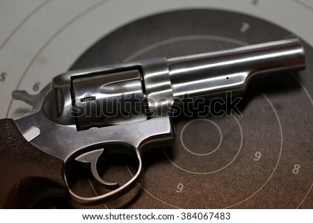 Guns on target - stock photo