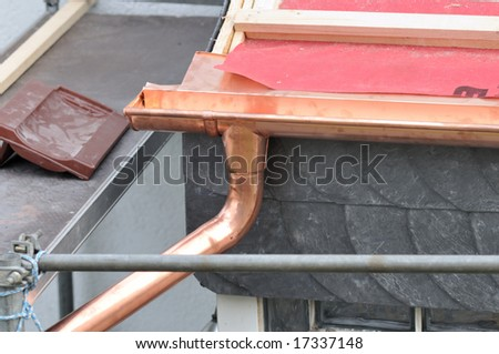 gutter - stock photo