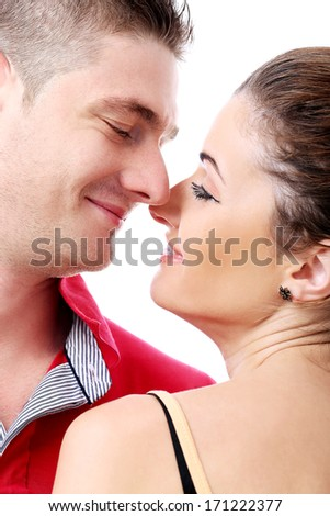 Guy and girl are in-love in each other - stock photo