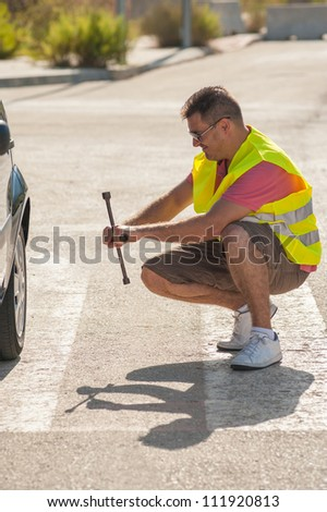 Guy completely clueless about what to do next - stock photo