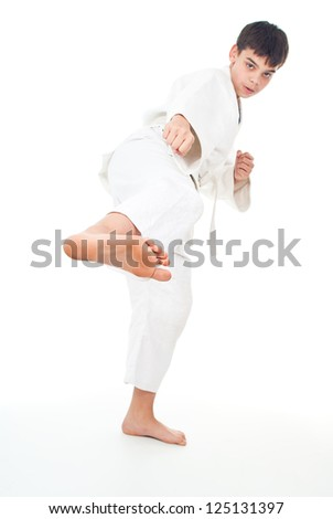 guy in sportswear fight - stock photo