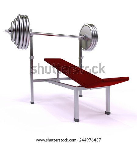 gym apparatus, exercise machine on the white background - stock photo