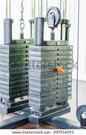 Gym equipment - stock photo