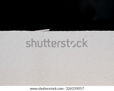 Gypsum board black background - stock photo