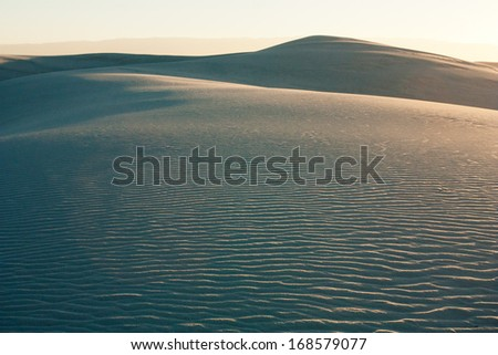 Gypsum sand dune shapes in White Sands National Monument, New Mexico - stock photo