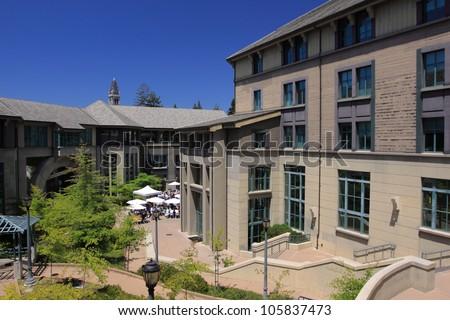 Haas School of Business, UC Berkeley - stock photo
