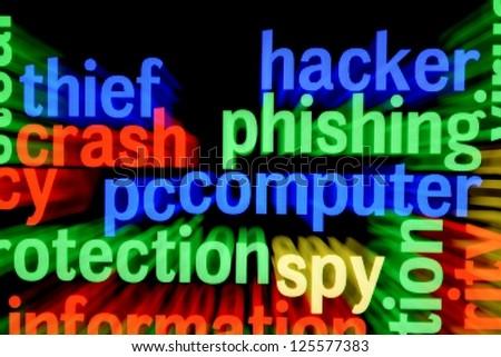 Hacker phishing computer - stock photo