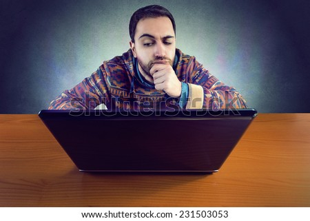Hacker tries to attack - stock photo