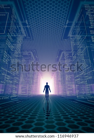 hacker world - stock photo