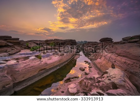 Had chom daw,Sam-Pan-Bok Grand Canyon, Ubon Ratchathani, Thailand - stock photo