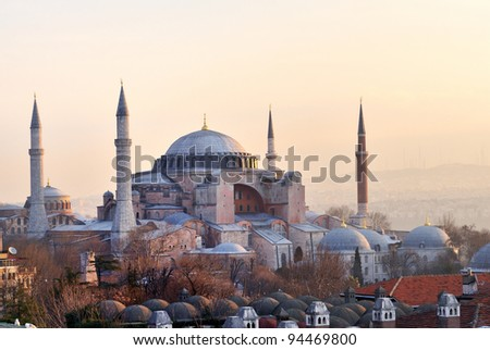 Hagia Sophia, Great Church in Istanbul - stock photo