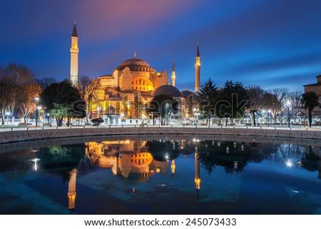 Hagia Sophia - Isntanbul, Turkey. - stock photo