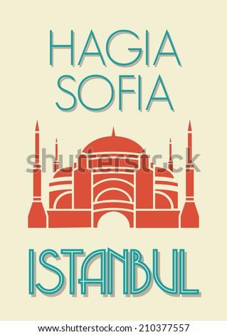 Hagia Sophia, Istanbul poster - stock photo