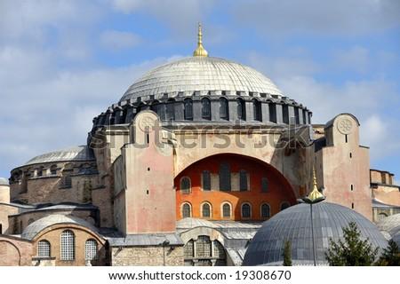 Hagia Sophia museum in Istanbul, Turkey. - stock photo