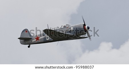 HAHNWEIDE, GERMANY-SEPT 4:Air show at the airfield Hahnweide with Polikarpow 1_16 Typ 24 on Sept 4, 2011, in Hahnweide, Germany - stock photo