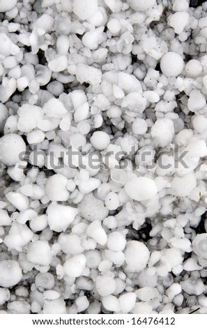 Hail ice balls - stock photo
