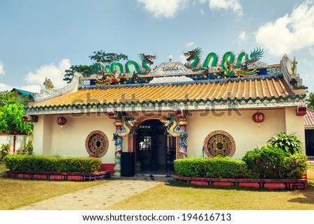Hainan Chinese Temple, Nathon, Koh Samui, Thailand - stock photo