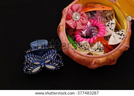 hair accessories for girls - stock photo