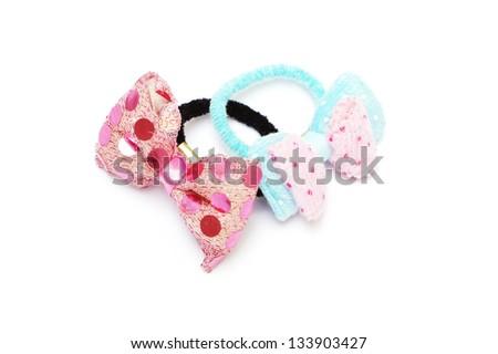 hair band on white background - stock photo