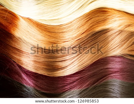 Hair Colors Palette. Hair Texture - stock photo