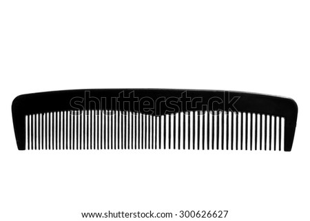 Hair comb isolated on white background. Macro - stock photo
